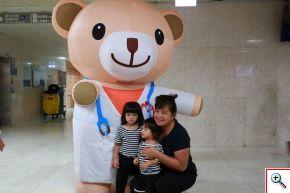 小麥貝爾熊到診間宣導。
